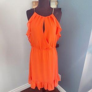 Dresses & Skirts - miss love Orange Sleeveless Dress